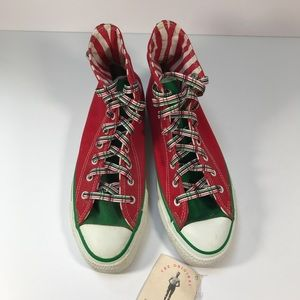 Converse Shoes - Converse Christmas Sneakers Hi Top Red 8 316703052